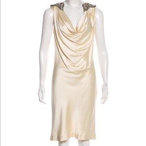 Adam Lippes satin cream dress
